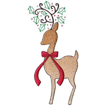 Christmas Deer Sketch Silhouette