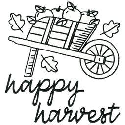 Wheelbarrow of Apples Happy Harvest 2