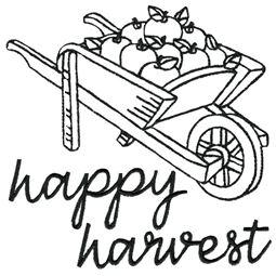 Wheelbarrow of Apples Happy Harvest 1
