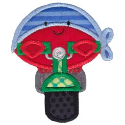 Biker Crab Applique