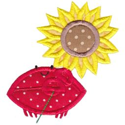 Sunflower Crab Applique