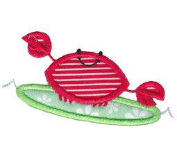 Surfing Crab Applique