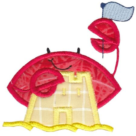 Sandcastle Crab Applique