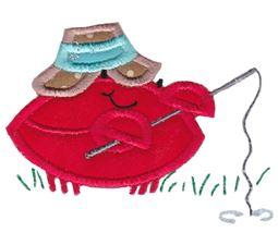 Fishing Crab Applique