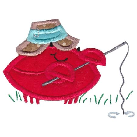 Fishing Crab Applique