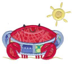 Beach Tube Crab Applique