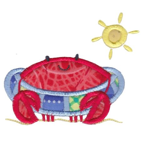 Beach Tube Crab Applique