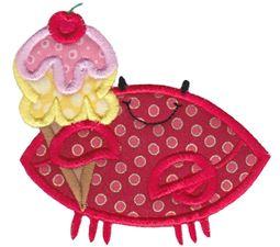 Ice cream Crab Applique