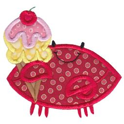 Ice cream Crab Applique
