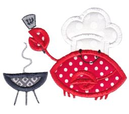 Grill Crab Applique