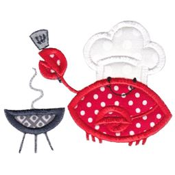 Grill Crab Applique