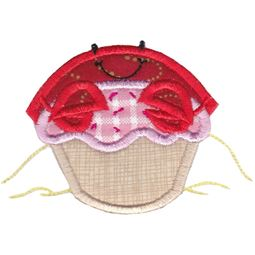 Cupcake Crab Applique