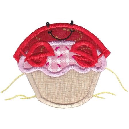 Cupcake Crab Applique