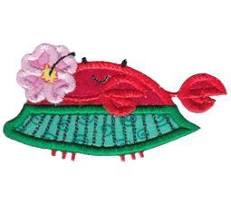 Hula Dancer Crab Applique