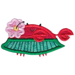 Hula Dancer Crab Applique