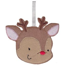 Reindeer Christmas Ornament and Feltie