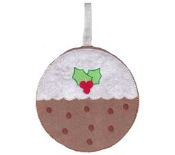 Christmas Pudding Ornament and Feltie
