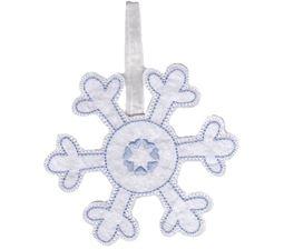 Snowflake Christmas Ornament and Feltie