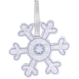 Snowflake Christmas Ornament and Feltie