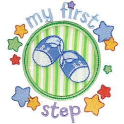 Baby Boys First Step Applique
