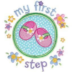 Baby Girls First Step Applique