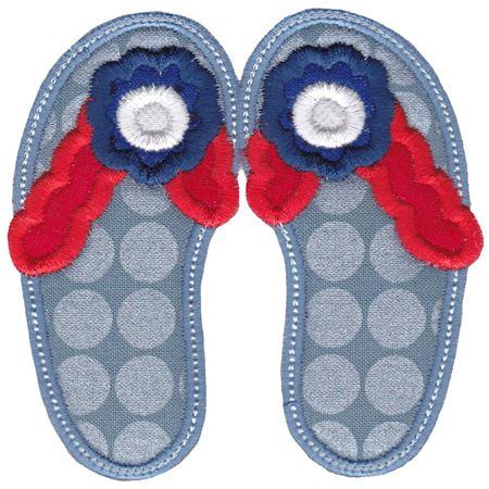 Flip Flops Applique 11