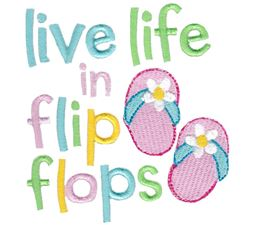 Flip Flops Applique 12