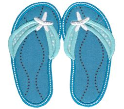 Flip Flops Applique 2