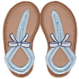 Flip Flops Applique 7