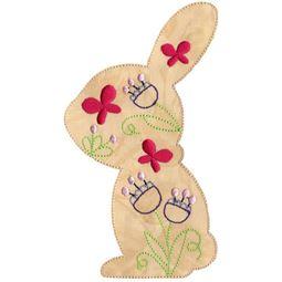 Floral Rabbit Applique