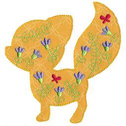 Floral Fox Applique