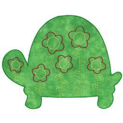 Floral Turtle Applique