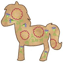 Floral Horse Applique