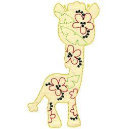 Floral Giraffe Applique
