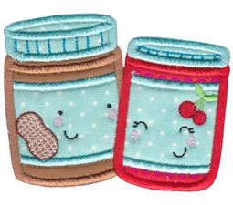 Peanut Butter and Jelly Applique