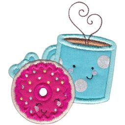 Doughnut and Coffee Applique