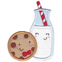 Milk and Cookies Applique