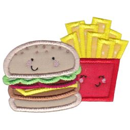 Hamburger and Fries Applique