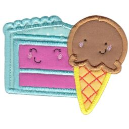 Ice Cream and Cake Applique