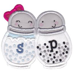 Salt and Pepper Applique
