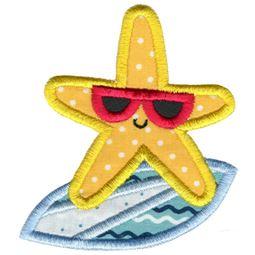 Surfing Starfish Applique