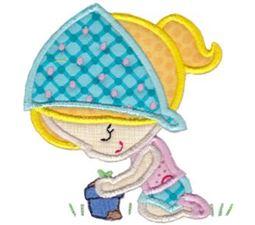 Gardening Girl Applique