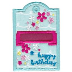 Floral Happy Birthday Gift Tag