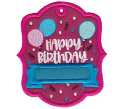 Happy Birthday With Balloons Gift Tag