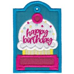 Happy Birthday with Cupcake Gift Tag