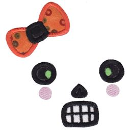 Girl Skull Face Applique