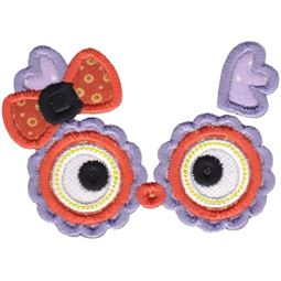 Girl Owl Face Applique