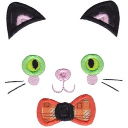 Boy Cat Face Applique