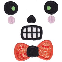 Boy Skull Face Applique