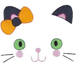 Girl Cat Halloween Face